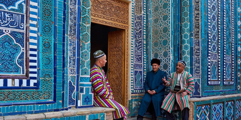 Mausolée de la nécropole Chah-e-Zindeh - Samarcande - Ouzbékistan