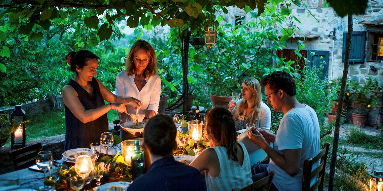 A la table de Momi et Jo - Toscane - Italie