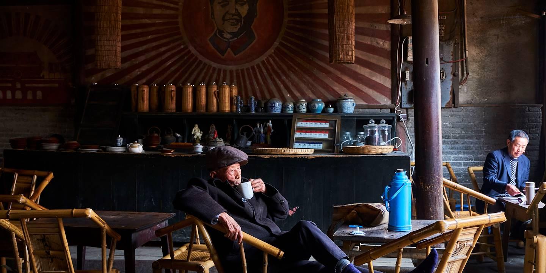 Maison de thé à Chengdu - Province du Sichuan - Chine