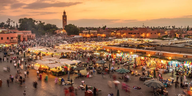 La place Jemaa el-Fna - Marrakech - Région de Marrakech-Safi - Maroc