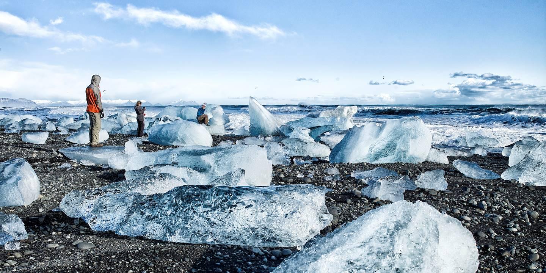 Lagon de glace de jokulsarlon - parc national de Vatnajoekull - Islande
