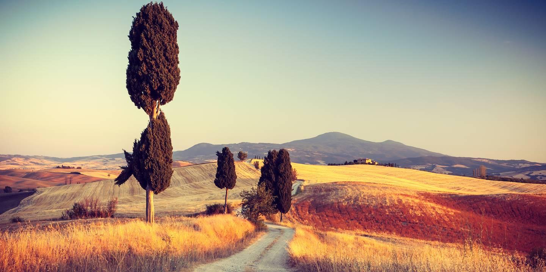 Sur les routes de Toscane - Italie.
