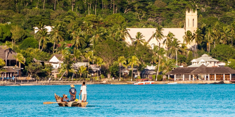 Pêcheurs sur l'île de Mahé - Sechelles