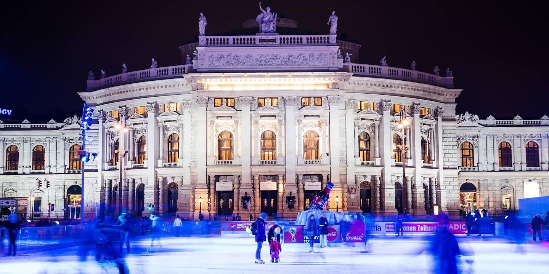 Le Burgtheater, théâtre inauguré en 1888 - Vienne - Autriche