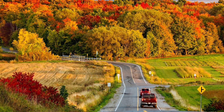 La route touristique le Chemin du Roy- région de la Mauricie - Québec - Canada