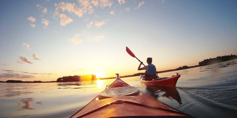 Kayak en Finlande