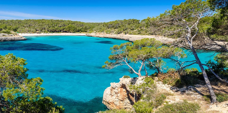 Plage Amarador dans le parc naturel de Montrago sur l'île de Majorque - Baléares - Espagne