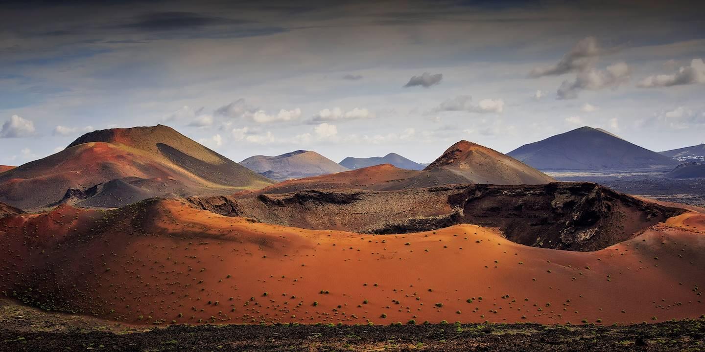 Cratères volcaniques, Montañas del Fuego, Parc national de Timanfaya, île de Lanzarote, archipel des Canaries, Espagne