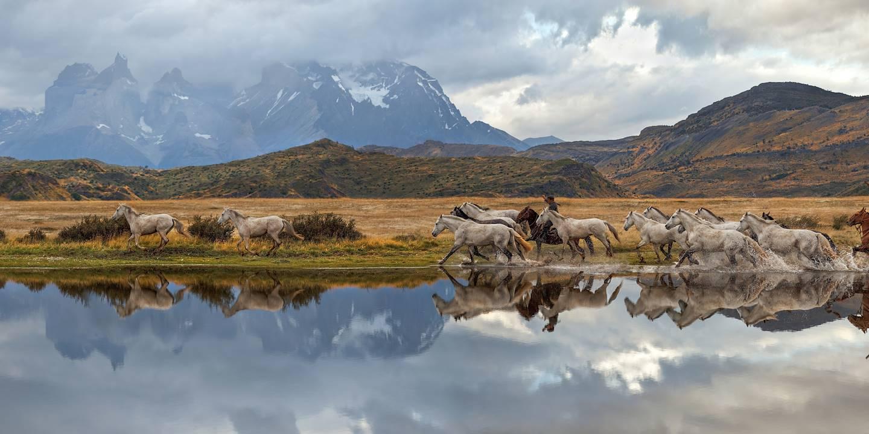 Gauchos dans la Patagonie chilienne
