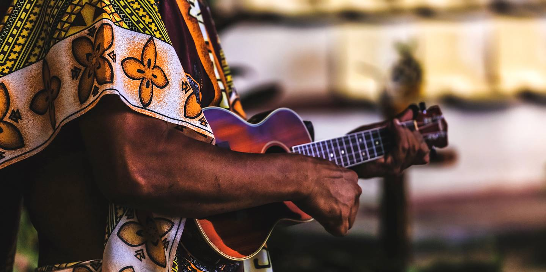 Musique traditionelle sur l'île de Moorea - Archipel de la Société - Polynésie