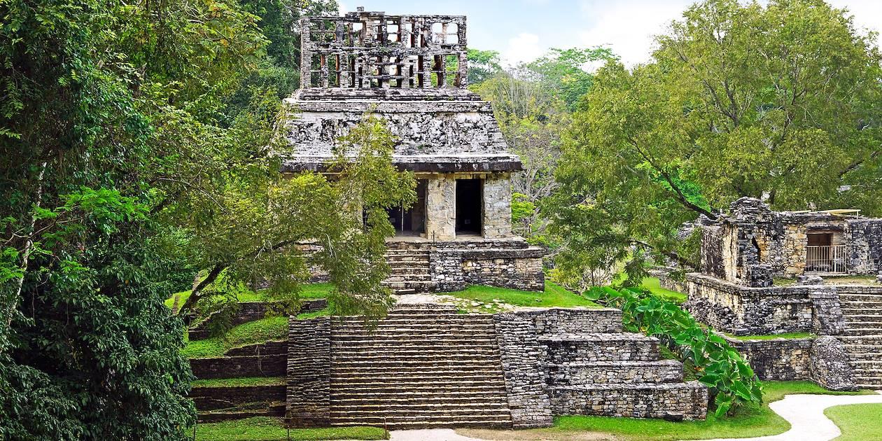 Temple du Soleil Chiapas - site Maya de Palenque - Chiapas - Mexique
