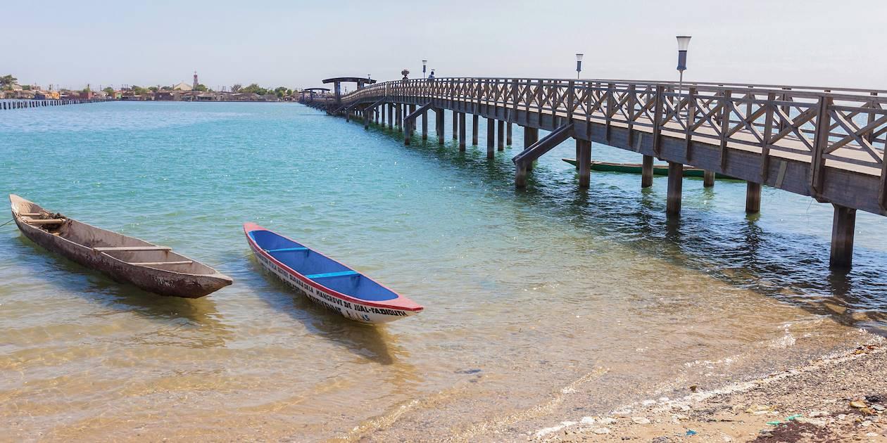 Pont rejoignant l'île de Fadiouth - Joal Fadiouth - Sénégal