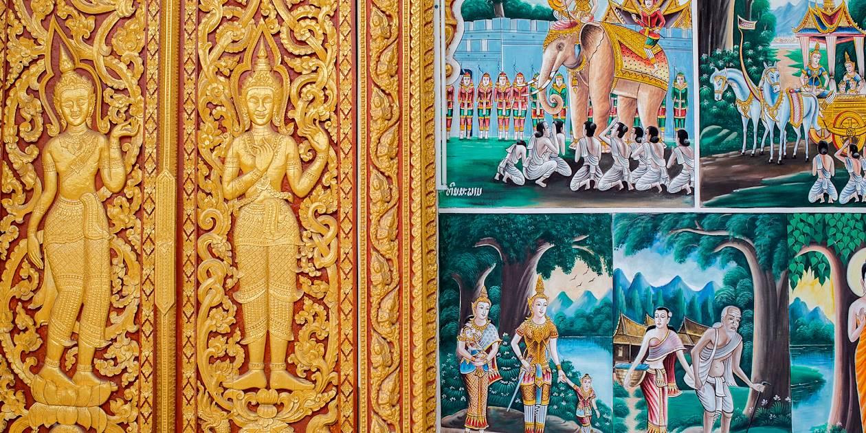 Détail du temple Vat Phra Kèo - Vientiane - Laos