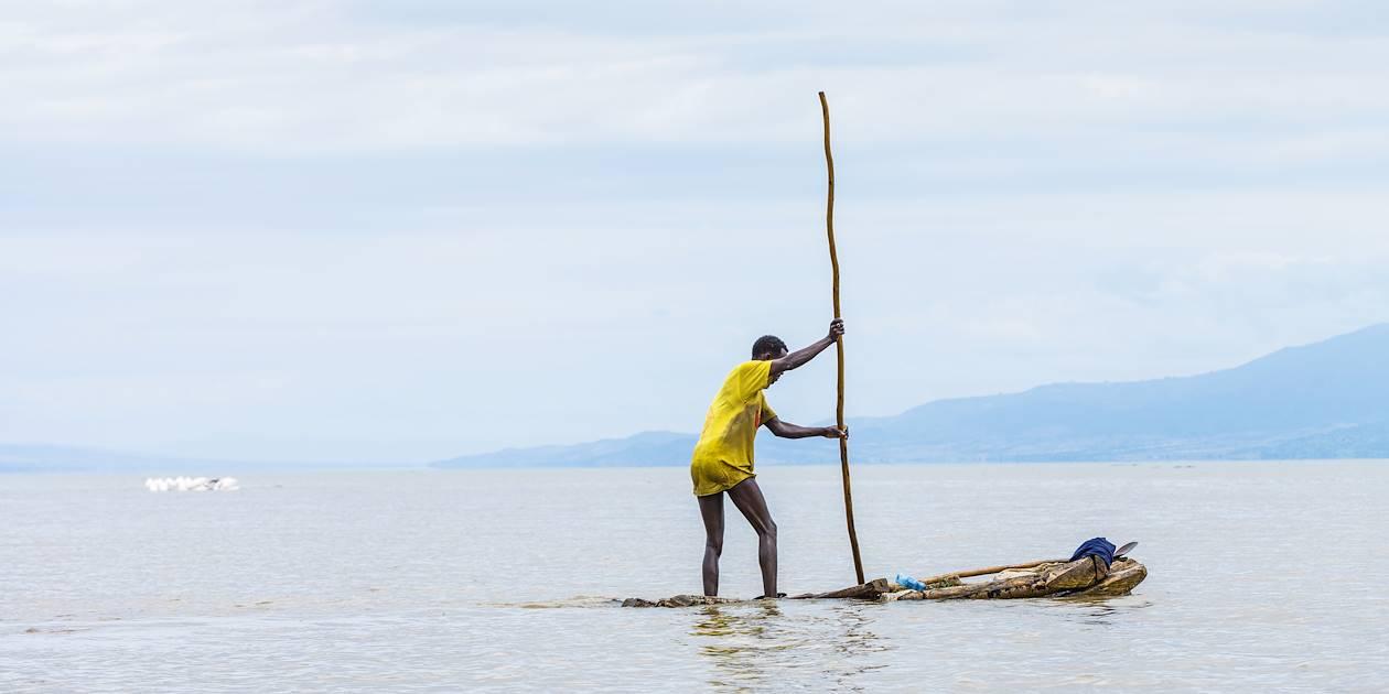 Pêcheur sur le Lac Tana - Ethiopie