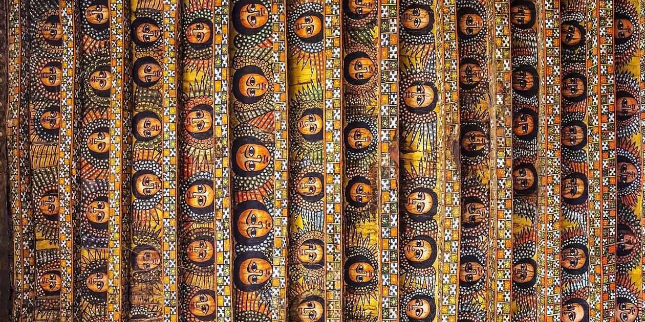 Plafond de l'Église Debré Berhan Sélassié - Gondar - Ethiopie