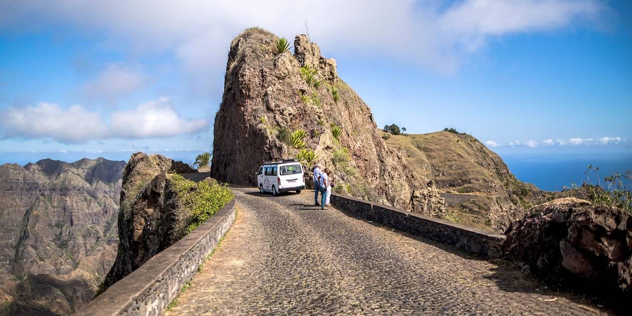 Chemin touristique à travers les montagnes - Île de Santo Antao - Cap Vert