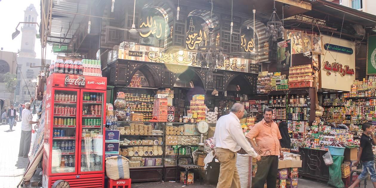 Dans le souk Khân al-Khalili au Caire - Egypte