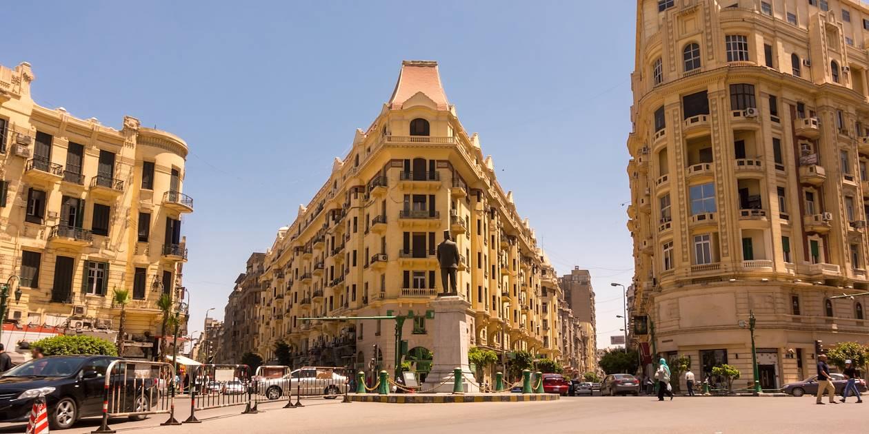 Place Talaat Harb, dans le centre ville - Le Caire - Égypte