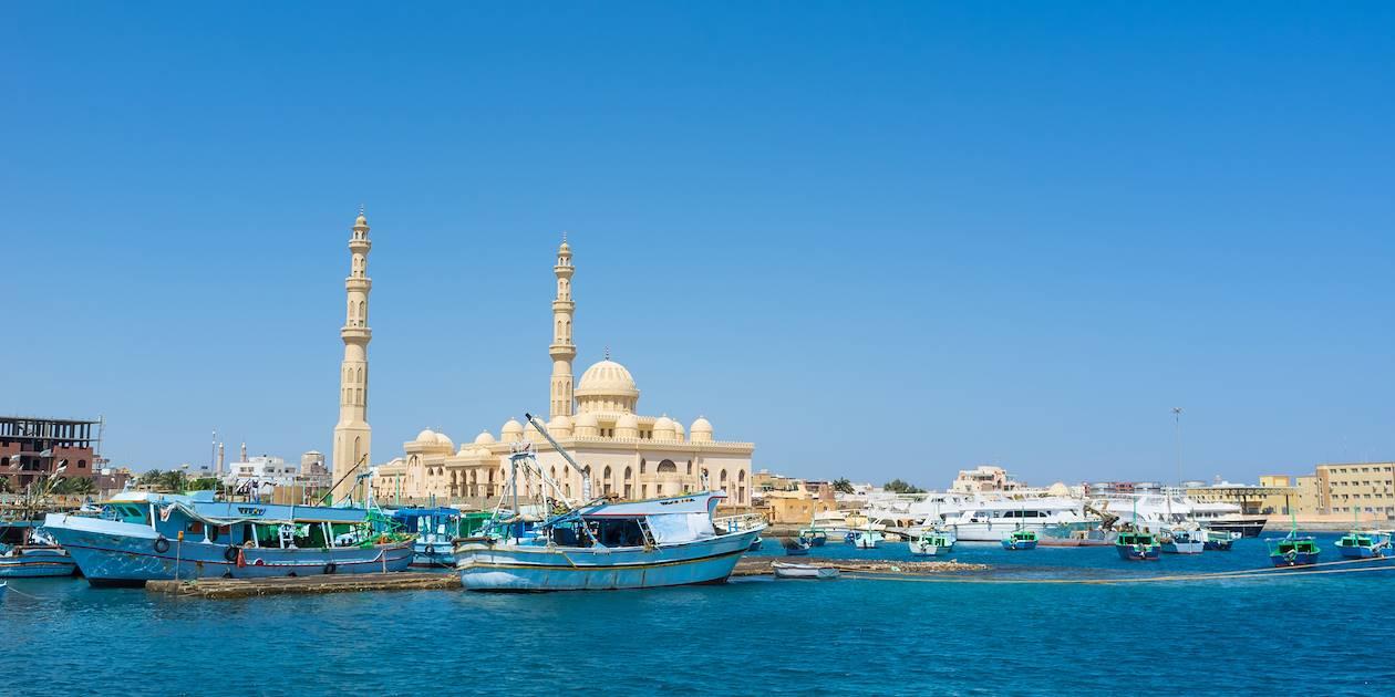 Vue sur la mosquée de Hurghada - Egypte
