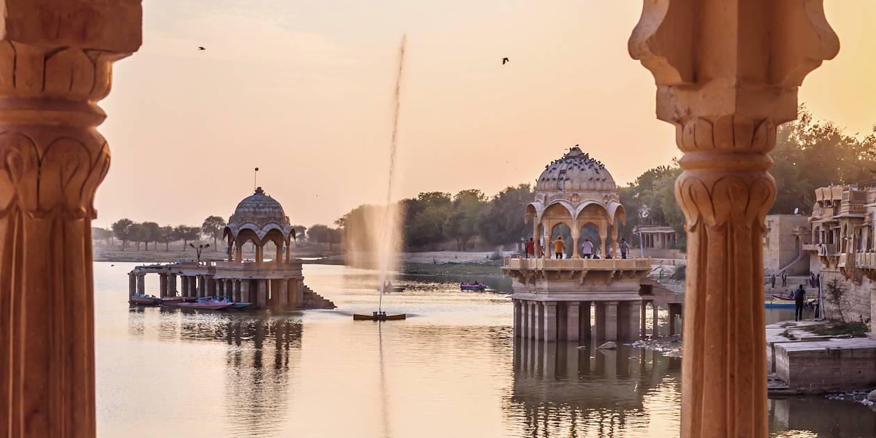 Lac Gadisar à Jaisalmer - Rajasthan - Inde