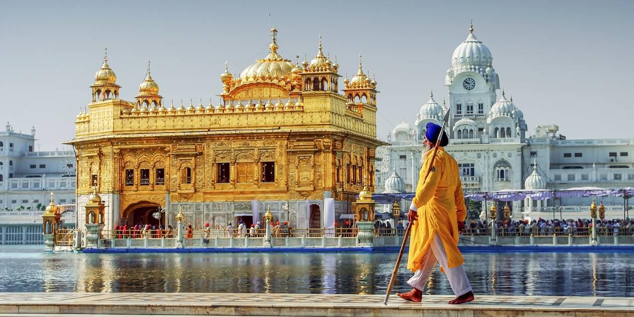 Sikh face au Temple d'Or - Amritsar - Inde