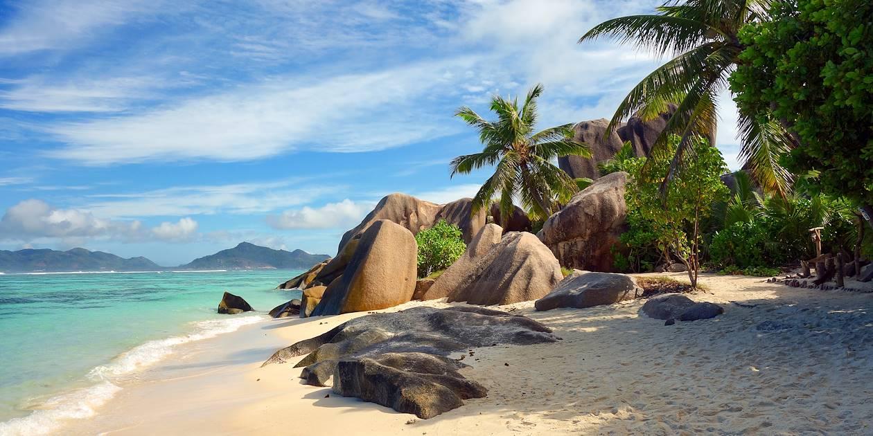 Plage de l'île de Praslin - Seychelles