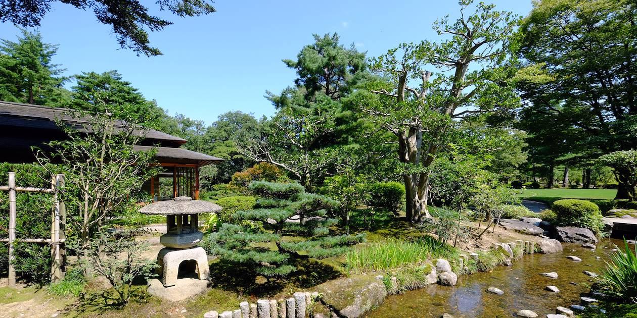 Le jardin Kenrokuen à Kanazawa - Région du Chubu - Ile d'Honshu - Japon