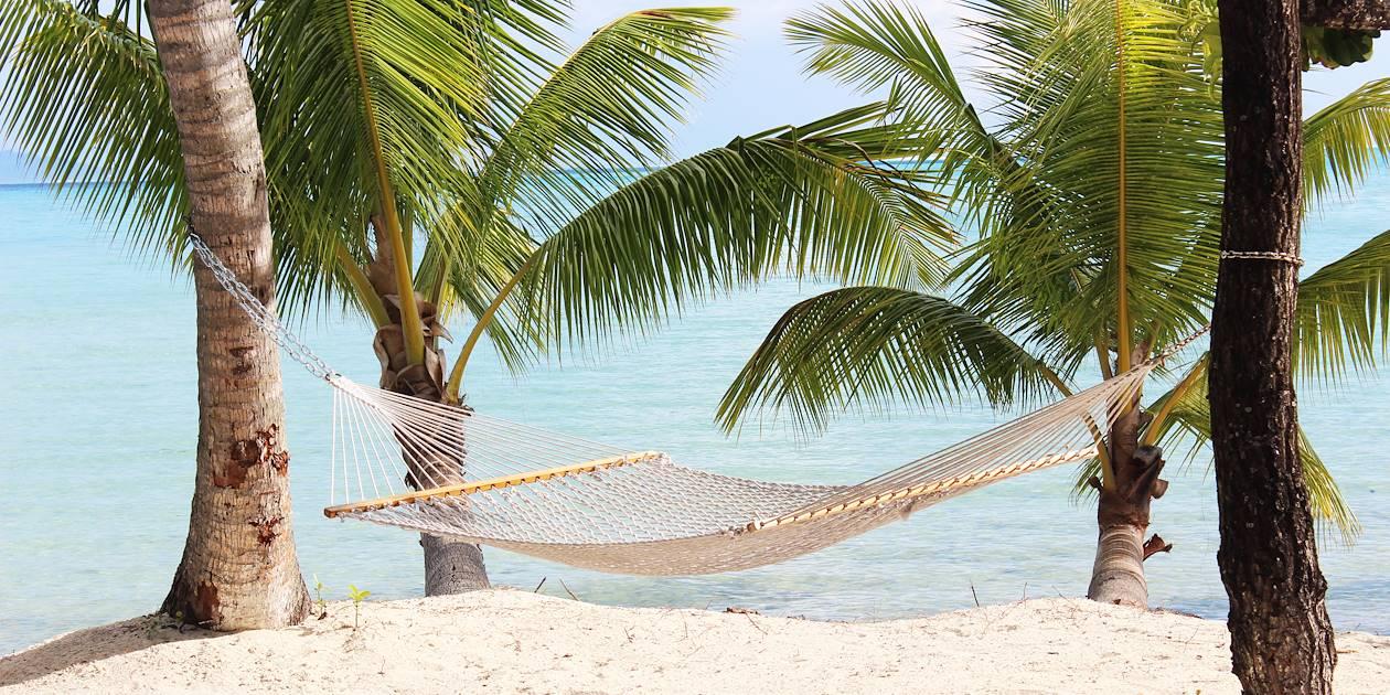 Hamac sur la plage - Polynésie française
