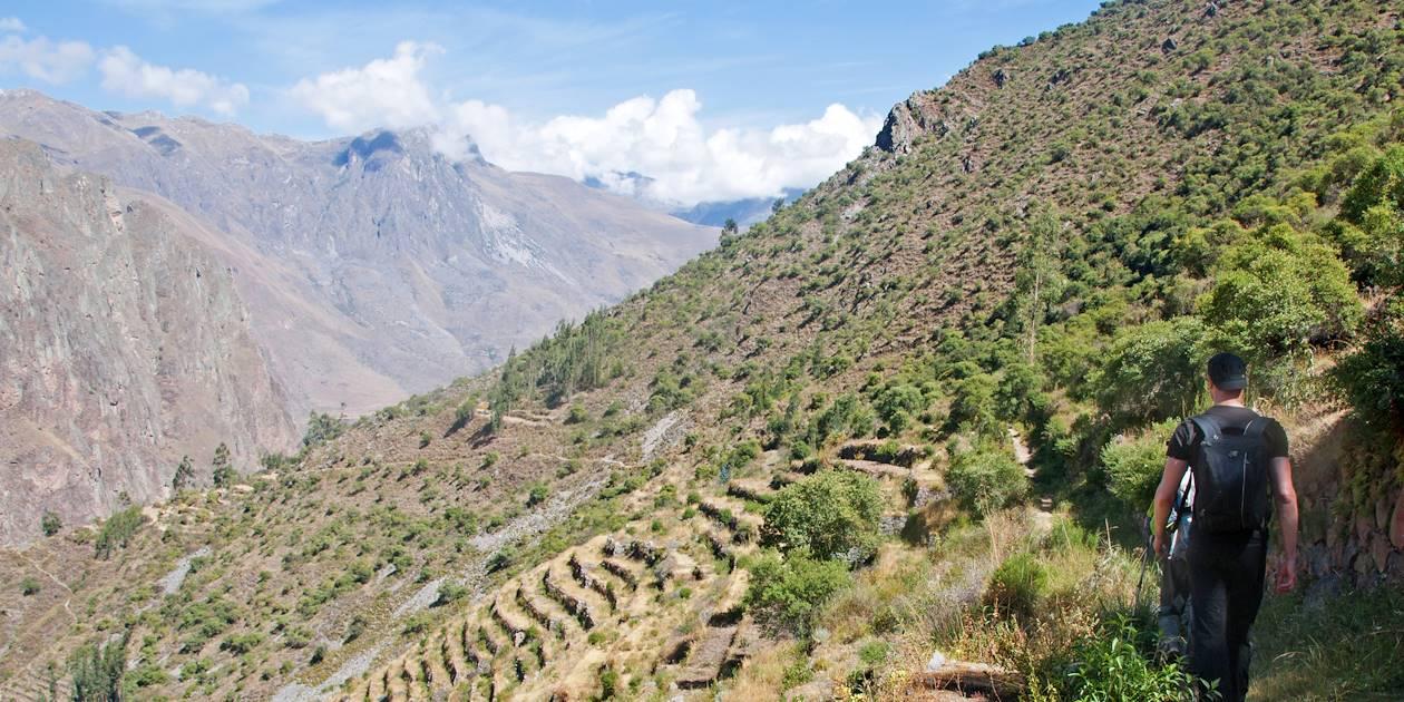 Randonnée entre Puma Marca et Ollantaytambo - Province de Cuzco - Pérou