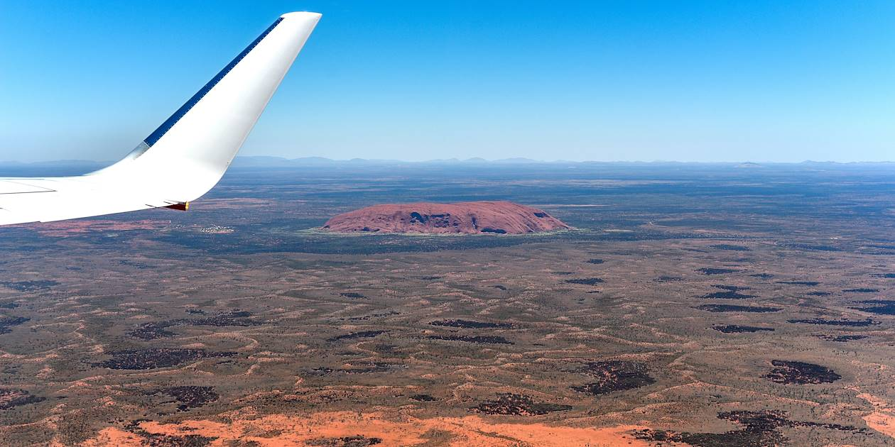 Vue aérienne du parc national Uluru-Kata Tjuta - Ayers Rock - Australie