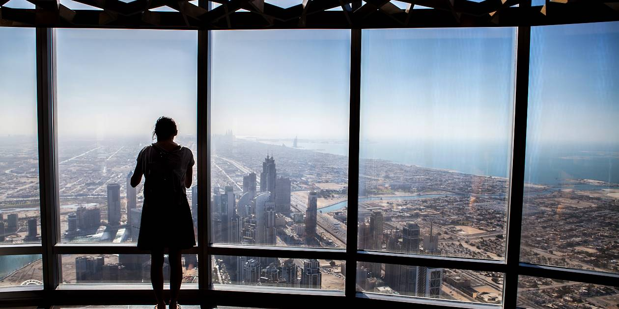 Vue depuis le Burj Khalifa - Dubaï - Emirats Arabes Unis