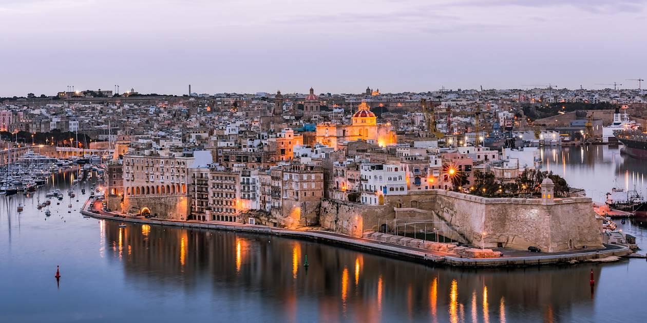 Coucher de soleil sur Senglea - Malte