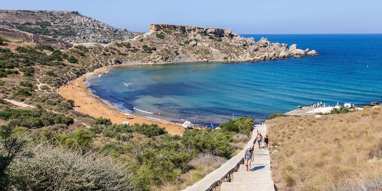La baie Ghajn Tuffieha - Malte