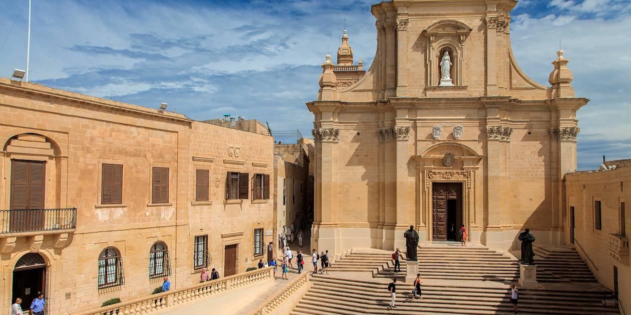 Cathédrale Notre-Dame-de-l'Assomption, au coeur de la Citadelle de Gozo - Victoria - Île de Gozo - Malte