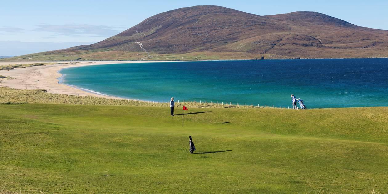 Joueurs de golf - Hébrides extérieures - Ecosse - Royaume-Uni