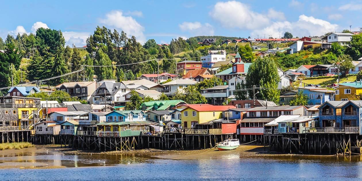 Maisons sur pilotis de Castro - Ile de Chiloé - Chili