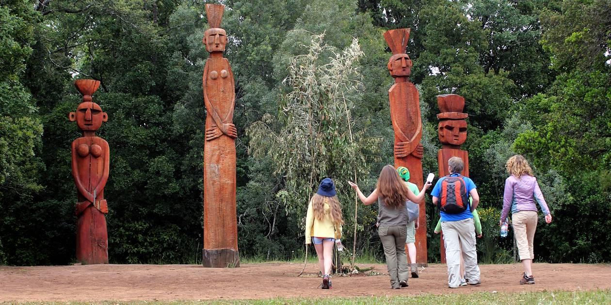 Découverte de totems - Temuco - Région d'Araucanie - Chili