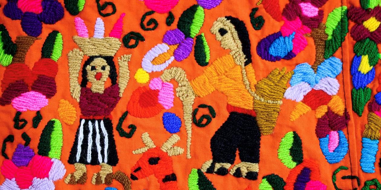 Détail d'un tissu ethnique - Guatemala