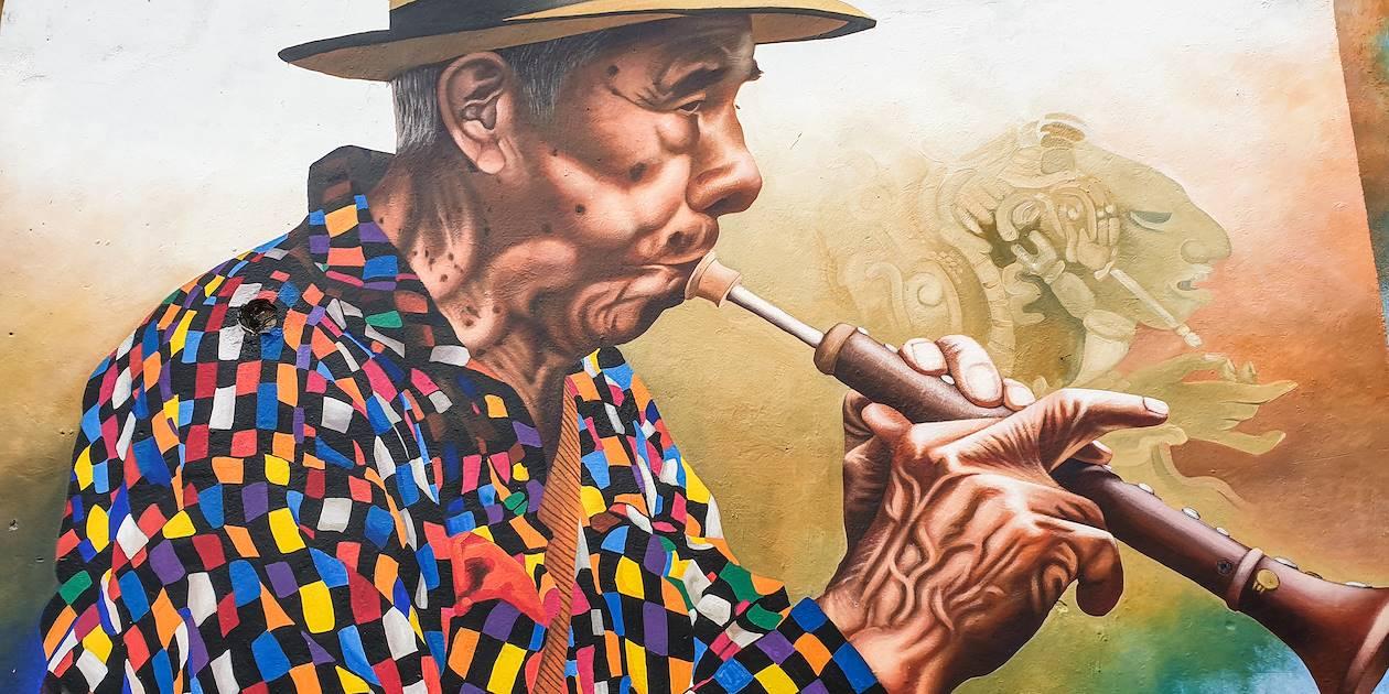 Peinture murale à San Juan La Laguna - Province de Sololá - Guatemala