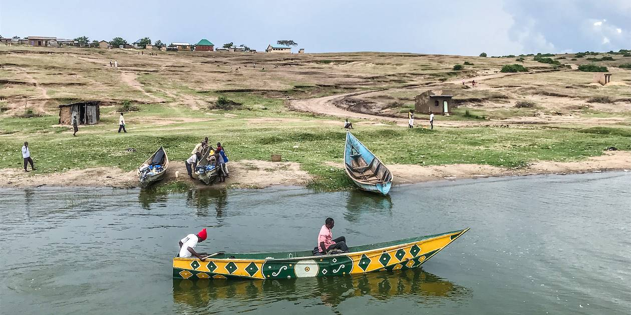 Croisière le long du Kazinga dans le parc national Queen Elizabeth - Ouganda