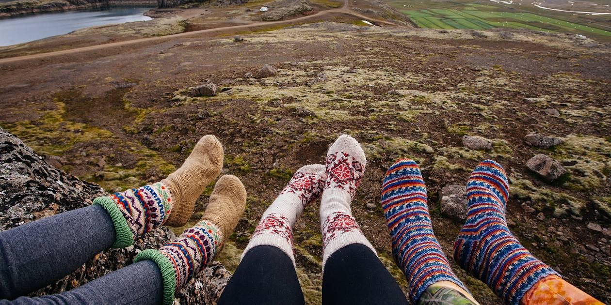 Chaussettes aux motifs colorés et traditionnels - Islande
