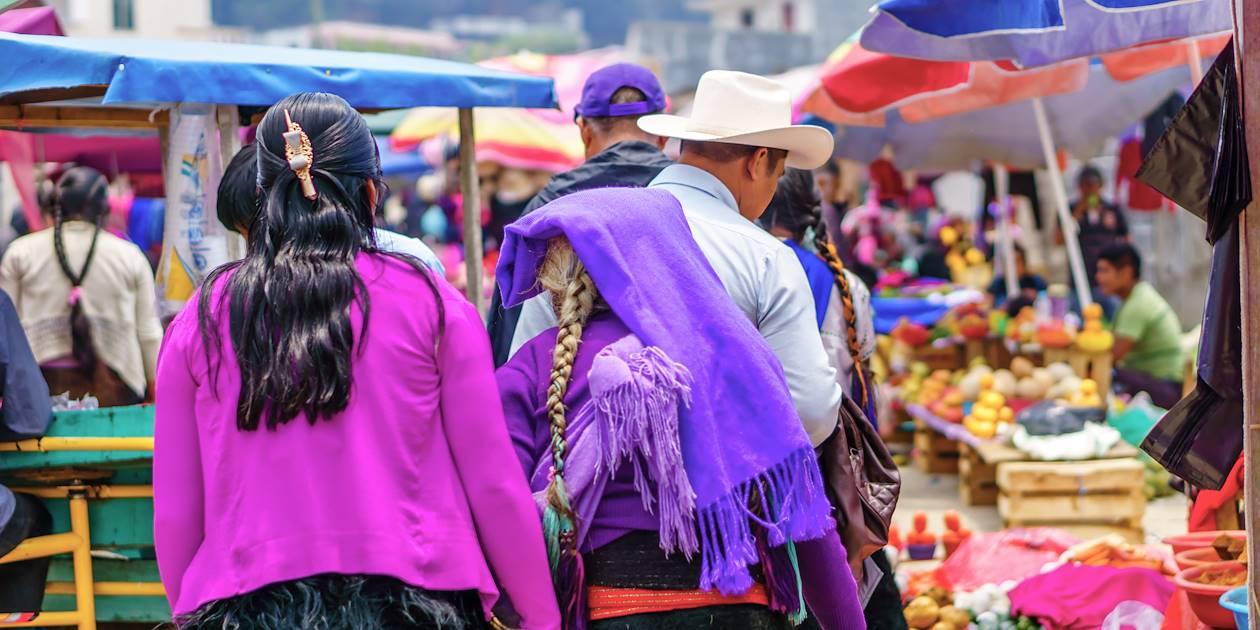 Femmes maya au marché - Chamula - Chiapas - Mexique