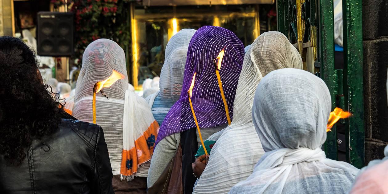 Rassemblement religieux à la Cathédrale Medhane Alem - Addis Abeba - Éthiopie