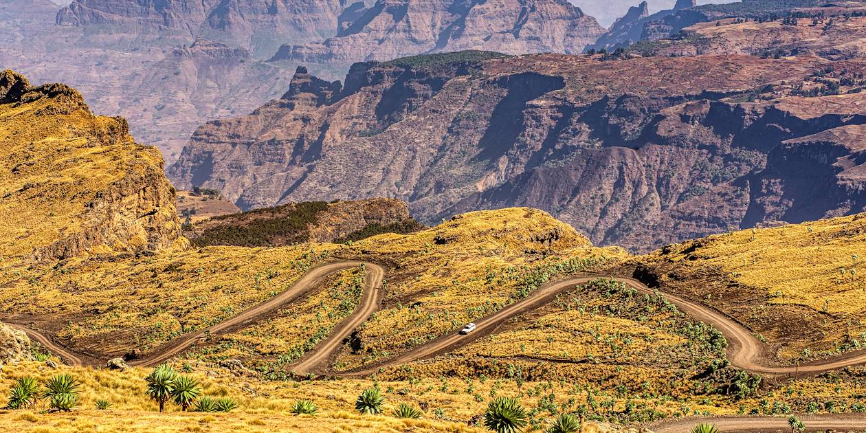 Route à travers le Parc du Simien - Ethiopie