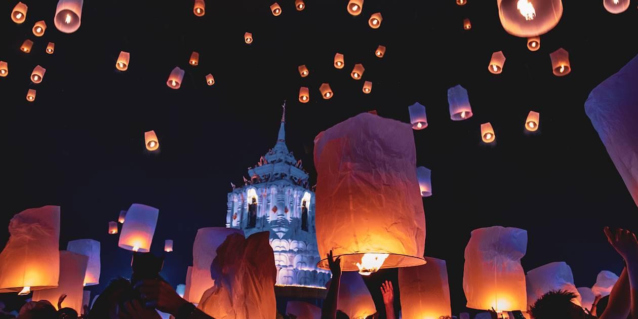 Loy Krathong, festival des lanternes - Chiang Mai - Thaïlande
