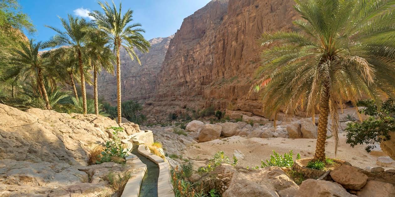 Falaj, canal d'irrigation - Wadi Shab - Oman