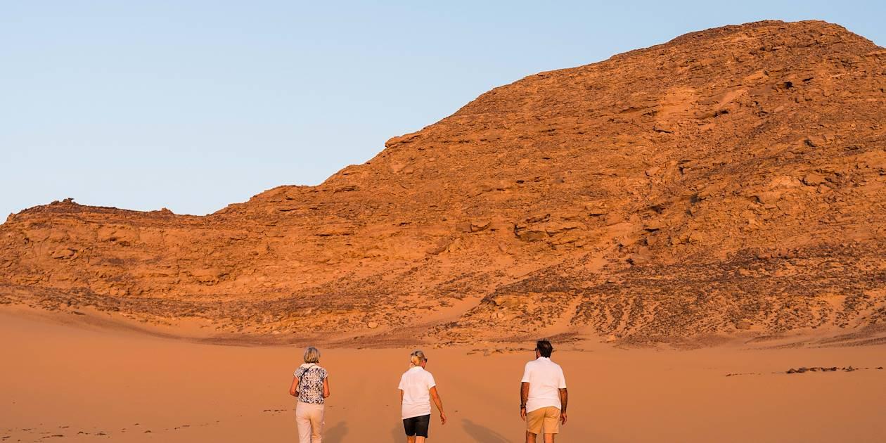 Balade dans le désert nubien - Égypte