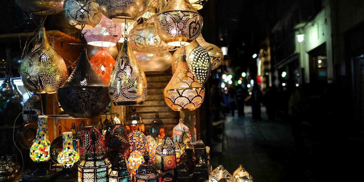Lanternes traditionnelles - Souk Khan El Khalili - Le Caire - Egypte