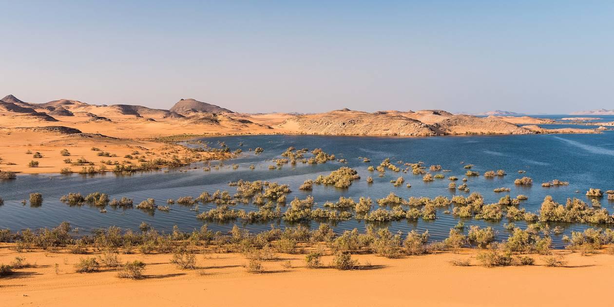 Paysages désertiques près du Lac Nasser - Dakka - Égypte