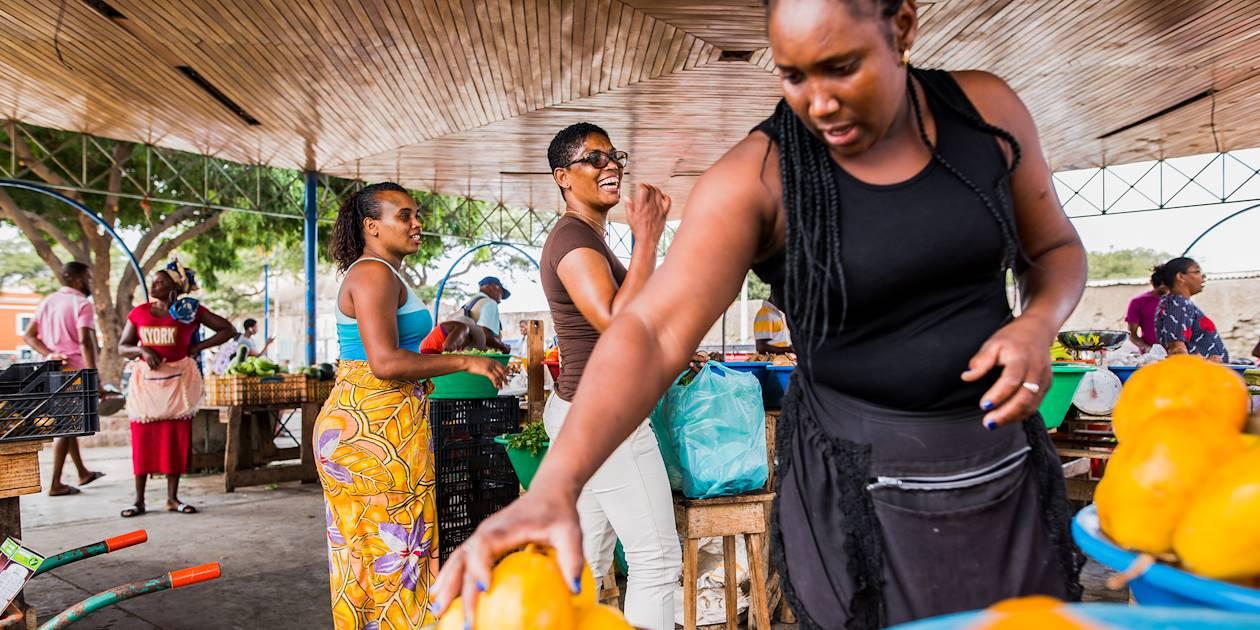 Courses au marché de Mindelo - Îlede Sao Vincente - Cap Vert